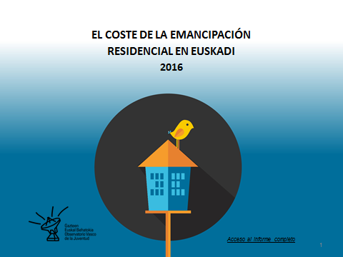 The Cost of Residential Independence in the Basque Country 2016