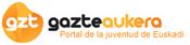 Logotipo Gazteaukera. Euskadiko gazteentzako ataria. Portal de la Juventud de Euskadi